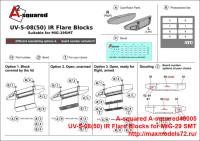 A-squared48005   UV-5-08(50) IR Flare Blocks for MiG-29 SMT. (attach1 40506)