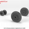 AR AW32306   1/32 F-4 Phantom-II wheels w/ weighted tires, early (attach2 36123)