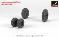 AR AW32306   1/32 F-4 Phantom-II wheels w/ weighted tires, early (attach3 36123)