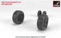 AR AW32307   1/32 F-4 Phantom-II wheels w/ weighted tires, mid (attach1 36128)