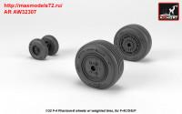 AR AW32307   1/32 F-4 Phantom-II wheels w/ weighted tires, mid (attach2 36128)