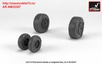 AR AW32307   1/32 F-4 Phantom-II wheels w/ weighted tires, mid (attach3 36128)