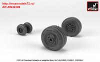 AR AW32308   1/32 F-4 Phantom-II wheels w/ weighted tires, late (attach2 36133)