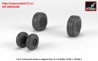 AR AW32308   1/32 F-4 Phantom-II wheels w/ weighted tires, late (attach3 36133)