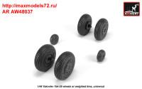 AR AW48037   1/48 Yak-28 wheels w/ weighted tires (attach3 35800)