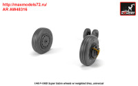 AR AW48316   1/48 F-100D Super Sabre wheels w/ weighted tires (attach3 36138)