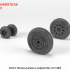 AR AW48323   1/48 F-4 Phantom-II wheels w/ weighted tires, early (attach2 36143)