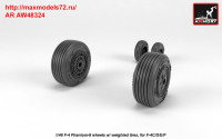 AR AW48324   1/48 F-4 Phantom-II wheels w/ weighted tires, mid (attach1 36148)