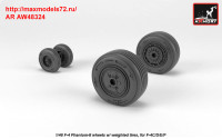 AR AW48324   1/48 F-4 Phantom-II wheels w/ weighted tires, mid (attach2 36148)