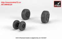 AR AW48324   1/48 F-4 Phantom-II wheels w/ weighted tires, mid (attach3 36148)