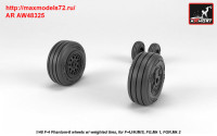 AR AW48325   1/48 F-4 Phantom-II wheels w/ weighted tires, late (attach1 36153)
