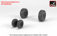 AR AW48325   1/48 F-4 Phantom-II wheels w/ weighted tires, late (attach3 36153)