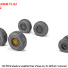 "AR AW48413   1/48 BAC TSR.2 wheels w/ weighted tires, type ""b"" (thumb36163)"