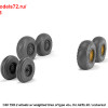 "AR AW48413   1/48 BAC TSR.2 wheels w/ weighted tires, type ""b"" (attach3 36163)"
