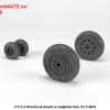 AR AW72328   1/72 F-4 Phantom-II wheels w/ weighted tires, early (attach2 36168)
