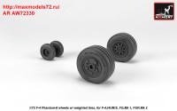 AR AW72330   1/72 F-4 Phantom-II wheels w/ weighted tires, late (attach2 36178)