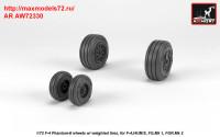 AR AW72330   1/72 F-4 Phantom-II wheels w/ weighted tires, late (attach3 36178)