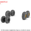 """AR AW72414   1/72 BAC TSR.2 wheels w/ weighted tires, type """"a"""" (attach3 36183)"""