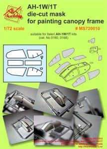 MS72010 - окрасочные маски для переплета кабины вертолета AH-1W/1T die-cut mask for painting canopy frame (thumb40517)