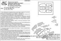 MS72010 — окрасочные маски для переплета кабины вертолета AH-1W/1T die-cut mask for painting canopy frame (attach1 40517)
