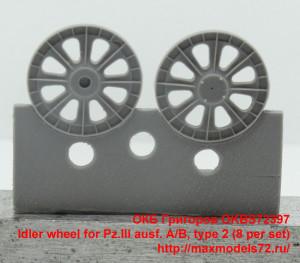 OKBS72397   Idler wheel for Pz.III ausf. A/B, type 2 (8 per set) (thumb34853)