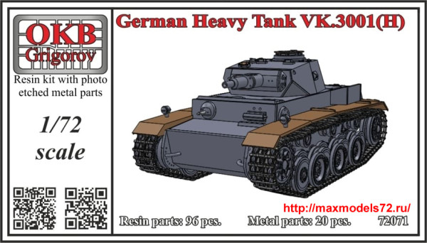 OKBV72071   German Heavy Tank VK.3001(P) (thumb35779)