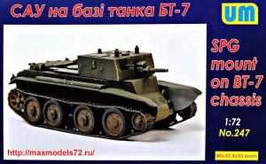 UM247   SPG based on the BT-7 tank (thumb34030)