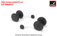 AR AW48037   1/48 Yak-28 wheels w/ weighted tires (attach2 35800)