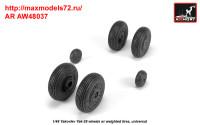 AR AW48037   1/48 Yak-28 wheels w/ weighted tires (attach1 35800)