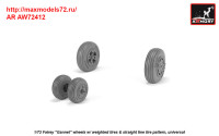 AR AW72412   1/72 Fairey «Gannet» early type wheels w/ weighted tires of straight tire pattern (attach1 38901)