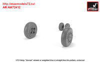 AR AW72412   1/72 Fairey «Gannet» early type wheels w/ weighted tires of straight tire pattern (attach3 38901)