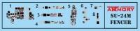 AR14703   1/144 Sukhoj Su-24M «Fencer» in foreign service: Algeria, Iran, Iraq, Lybia, Syria (attach6 38911)