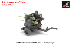 AR72239   1/72 M45 Quadmount, US WWII 4x 12.7mm M2HB Turret on M20 trailer (attach3 38922)