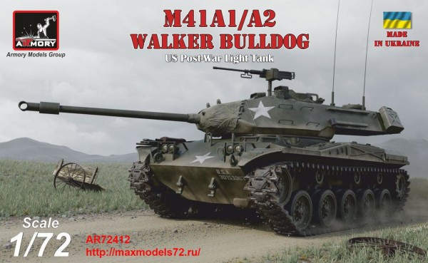 AR72412   1/72 M41A1/A2 Walker Bulldog US post-war Light tank (thumb38928)