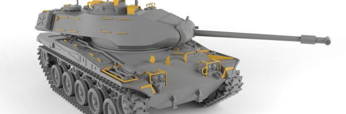 AR72412   1/72 M41A1/A2 Walker Bulldog US post-war Light tank (attach2 38928)