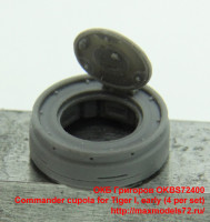 OKBS72400   Commander cupola for Tiger I, early (4 per set) (attach4 37062)