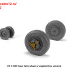 AR AW32303   1/32 F-100D Super Sabre wheels w/ weighted tires (attach2 36118)