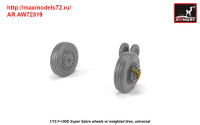 AR AW72319   1/72 F-100D Super Sabre wheels w/ weighted tires (attach3 38896)