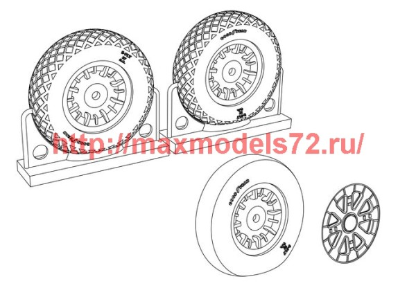 BRL48113   F4U Corsair Diamond Thread Wheels set (thumb39415)