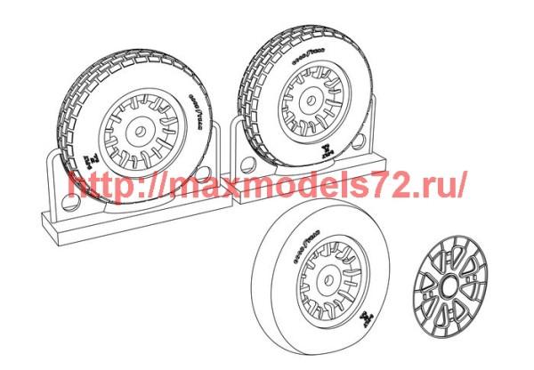 BRL48114   F4U Corsair Block Thread Wheels set (thumb39419)