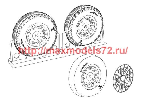 BRL48116   F4U Corsair Ribbed/Diamond Thread Wheels set (thumb39427)