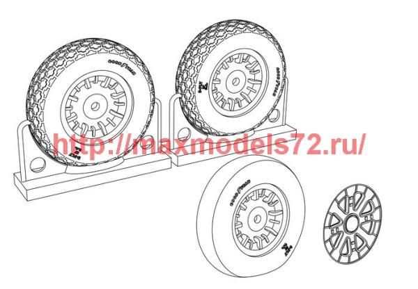 BRL48117   F4U Corsair Cross Thread Wheels set (thumb39431)