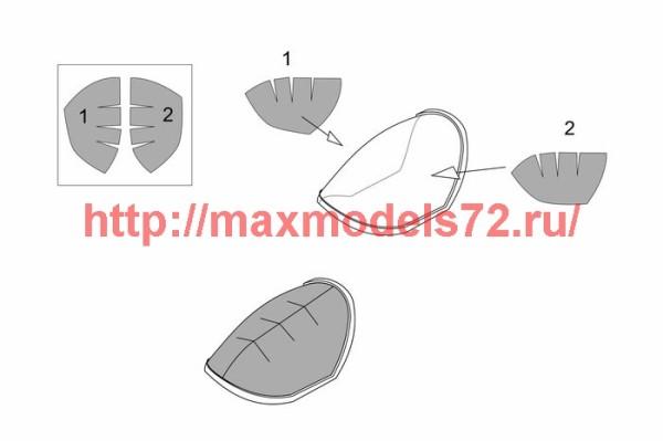 BRL72179   Me P1103 rocket fighter canopy mask (Brengun kit) (thumb39395)