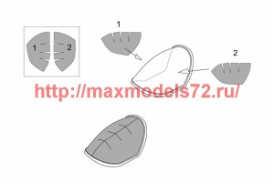 BRL72179   Me P1103 rocket fighter canopy mask (Brengun kit) (attach2 39395)