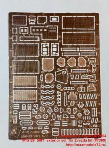 A-squared72004   MIG-29  SMT  exterior set  for Zvezda kit (#7309) (attach2 38959)