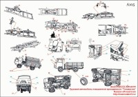 AMinA105   Грузовой автомобиль повышенной проходимости «Головастик» Russian off-road truck (attach6 40687)