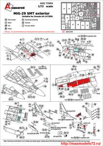 A-squared72004   MIG-29  SMT  exterior set  for Zvezda kit (#7309) (attach1 38959)