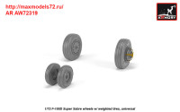 AR AW72319   1/72 F-100D Super Sabre wheels w/ weighted tires (attach1 38896)