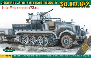 ACE72573   3,7cm Flak 36 auf Fahrgestell mZgKw 5t Sd.Kfz.6/2 (thumb43771)