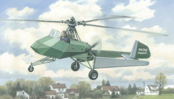 AMP48008   Doblhoff WNF 342 WWII German experimental  helicopter (thumb39648)